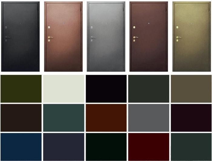 Образцы цветов краски для дверей